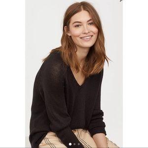H&M black comfy sweater